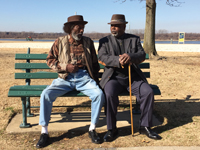 "Henry and Abe just can't seem to get along, but are nevertheless drawn to the same park bench every day. ""Two Old Black Guys Just Sitting Around Talking"" makes its Memphis debut at TheatreWorks, Apr. 17–26. Tickets available through Bluff City Tri-Art Theatre & JET Entertainment Alliance, 901-946-6140."